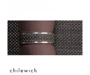 Chilewich Serviettenring Mini Basketweave Narrow espresso