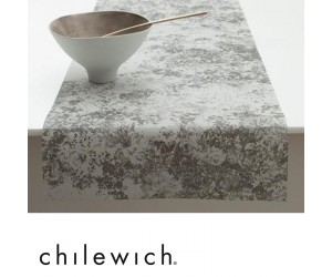 Chilewich Läufer Faded Floral schwarz/weiß