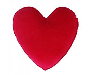 Farbenfreunde Herz-Dekokissen preiselbeer