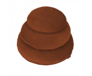 Farbenfreunde Dekokissen kupfer (Ø 40 cm)