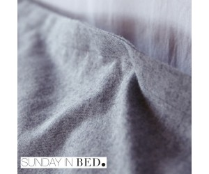 Sunday in Bed Bettwäsche Flanell grau
