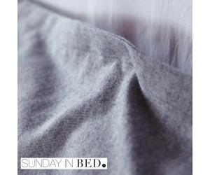 Sunday in Bed Bettwäsche Flanell grau