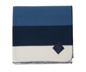 Lexington Fleecedecke Block Striped Fleece Throw blau (130x170cm)