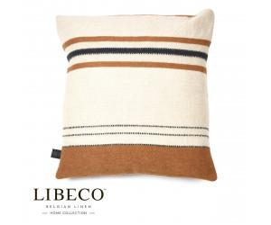 Libeco Dekokissen Foundry beewax stripe