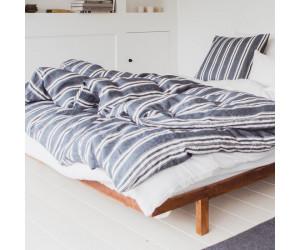 Libeco Bettwäsche Folkestone Stripe vorgewaschenes Leinen