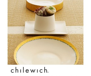 Chilewich Set Glassweave gold