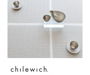 Chilewich Set Glassweave silber