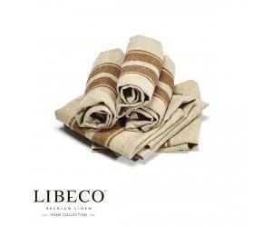 Libeco Servietten Set Grainhall Stripe (6 Stück)