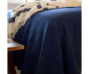 Lexington Fischgrätenmuster - Tagesdecke Hotel Herringbone Bedspread blau