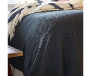 Lexington Fischgrätenmuster - Tagesdecke Hotel Herringbone Bedspread grau