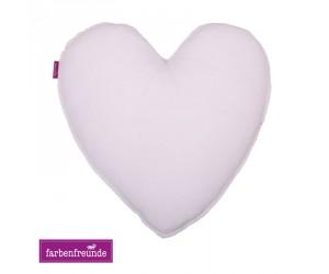 Farbenfreunde Herz-Dekokissen milch