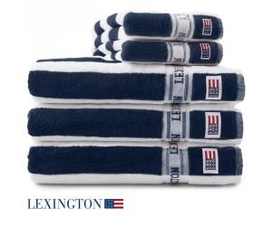 Lexington Handtuch New Authentic navy / weiß