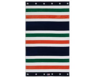 Lexington Strandtuch Multi Striped Velour Beach Towels grün (100x180cm)