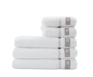 Lexington Handtuch Hotel Towel weiß/beige