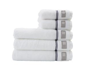 Lexington Handtuch Hotel Towel weiß/blau