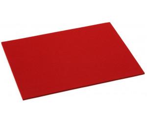 Hey-Sign Filz Tischset rechteckig mohnrot -55 (45x35cm, Stärke: 5mm)