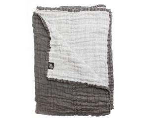 Himla Bettüberwurf Hannelin charcoal (kohle/weiß) (2 Größen)