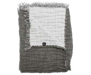 Himla Plaid Hannelin anthrazit weiß / charcoal white (130 x 170cm)