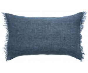 Himla Dekokissen Levelin jeansblau / silence (40 x 60cm)
