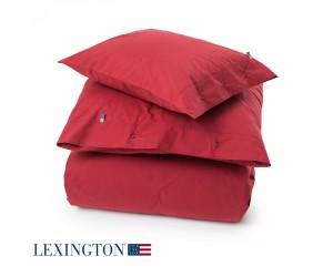 Lexington Bettwäsche Set Holiday Striped Poplin rot