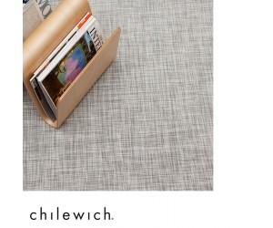 Chilewich Teppich Ikat weiß-silber