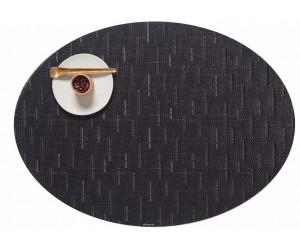 Chilewich - 4-er Set BAMBOO oval 36 x 49,5 cm - Jet Black
