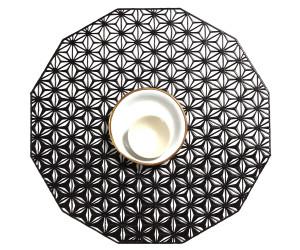 Chilewich Tischset Kaleidoscope rund schwarz -003 (35,6 cm)