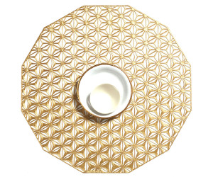 Chilewich Tischset Kaleidoscope rund gold -004 (35,6 cm)
