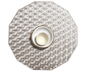 Chilewich Tischset Kaleidoscope rund metall -001 (35,6 cm)