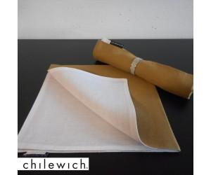 Chilewich Serviette Double/ Reversible karamel/weiß