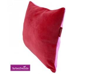 Farbenfreunde zweifarbiges Kissen hibiskus/zuckerwatte