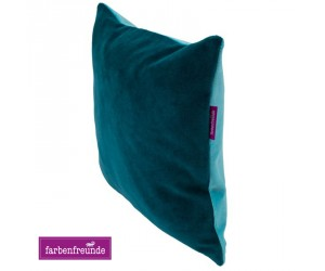 Farbenfreunde zweifarbiges Kissen winterpetrol/aqua