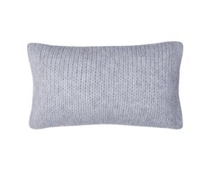 Zoeppritz Dekokissen Knitty light grey mel. (30 x 50 cm)