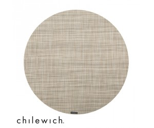 Chilewich Set Rund Mini Basketweave linen