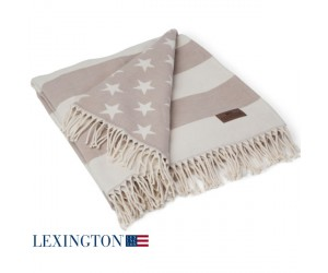 Lexington Plaid Flag Throw beige