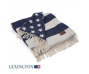 Lexington Decke Flag Throw dunkelblau