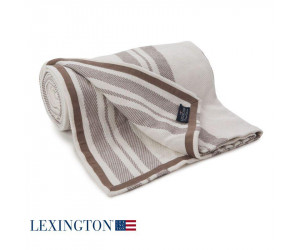 Lexington Striped Bettüberwurf beige 260x240