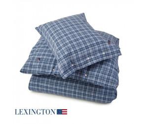 Lexington Kissenbezug Flannel Check blau