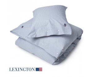 Lexington Bettwäsche Authentic Pin Point Oxford navy / weiß