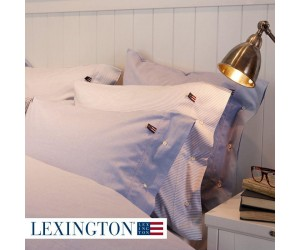 Lexington Bettwäsche Authentic Pin Point Oxford blau