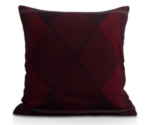 Lexington Wende-Dekokissen Argyle Wool Sham rot (50x50cm)