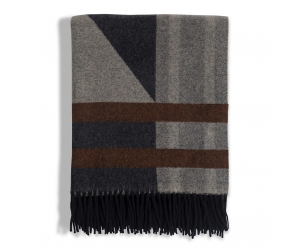 Lexington Wolldecke Argyle Wool Throw grau (130x170cm)