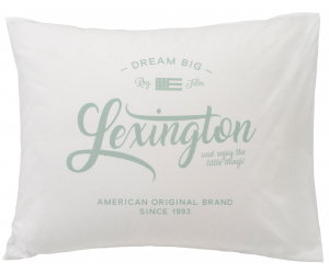 Lexington bedruckte Dekokissen mit Logoprint weiß (50 x 70cm)