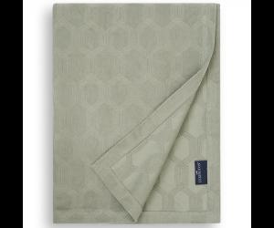 Lexington Bettüberwurf Jaquard Cotton Velvet sage green ( 2 Größen)
