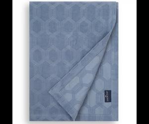 Lexington Bettüberwurf Jaquard Cotton Velvet steel blue ( 2 Größen)