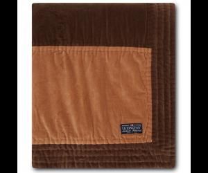 Lexington Bettüberwurf Quilted CottonVelvet brown/beige ( 2 Größen)