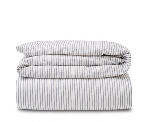 Lexington Bettwäsche Striped Tencel Cotton white/steel blue
