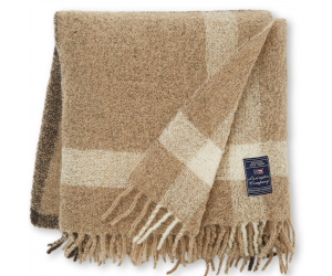 Lexington Decke Checked Bouclé beige/brown (130 x 170cm)