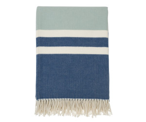 Lexington Decke Striped Cotton Wool Throw blau/weiß gestreift (130 x 170 cm)