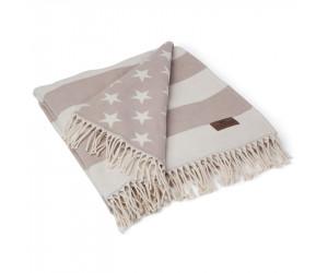 Lexington Plaid Flag Throw beige